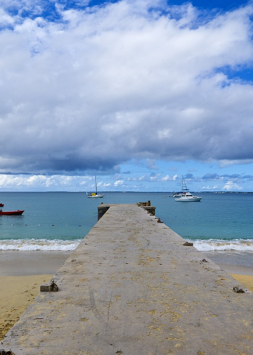 Pier, Island, Ocean, Beach, Travel, Water, Sunny, Coast