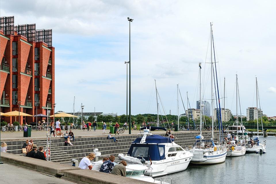 Yacht In The Port, Travel, Sea, Yacht, Boat, Marina