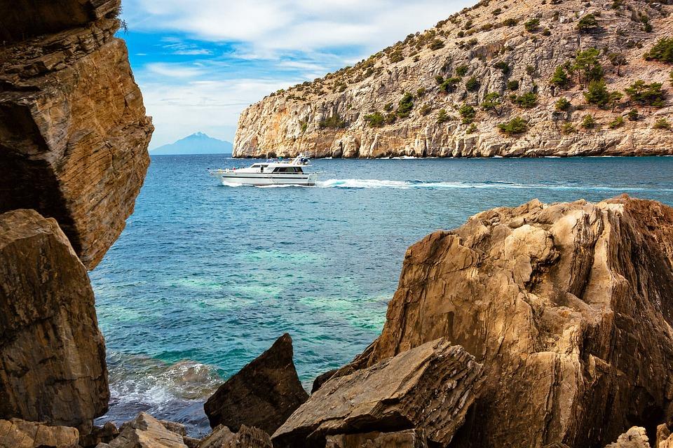Greece, Sea, Coast, Yacht, Summer, Holiday, Travel