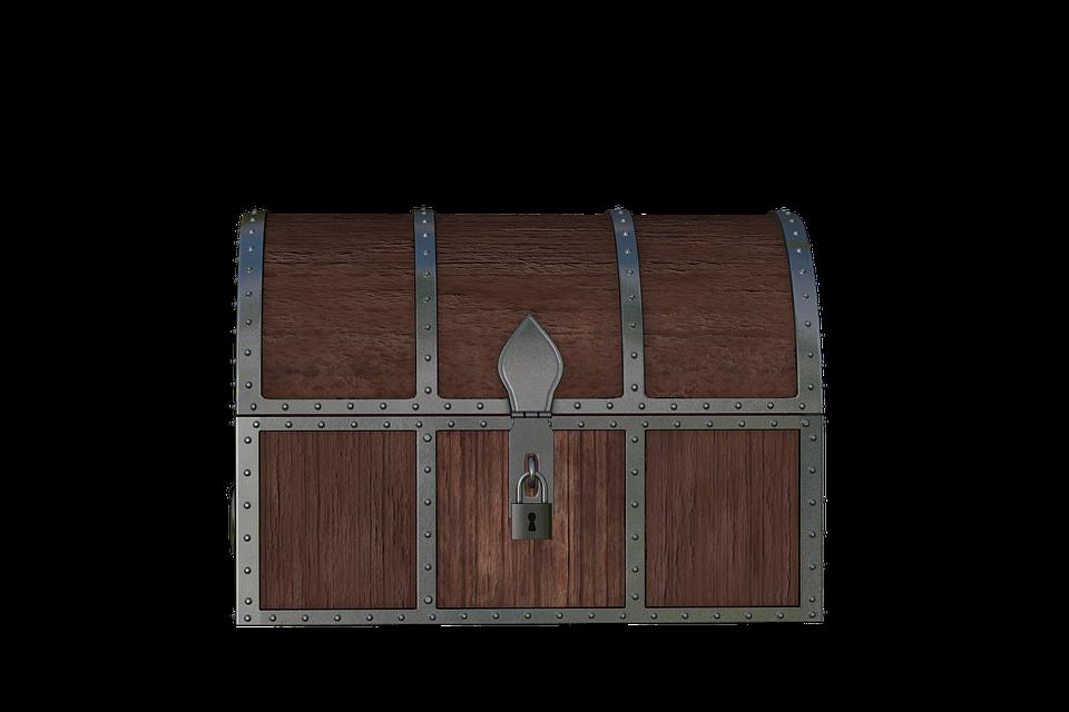 Chest, Treasure, Wood, Box, Treasure Chest, Castle