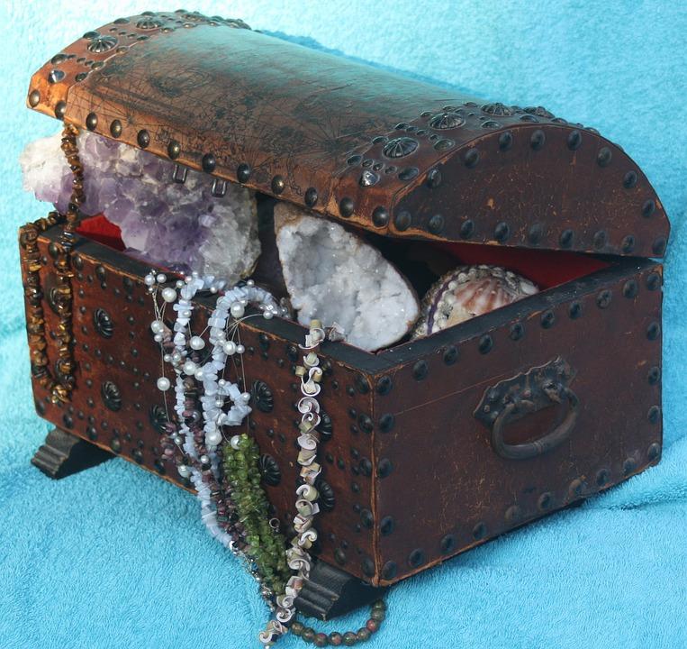 Treasure, Gems, Box, Treasure Chest, Decoration