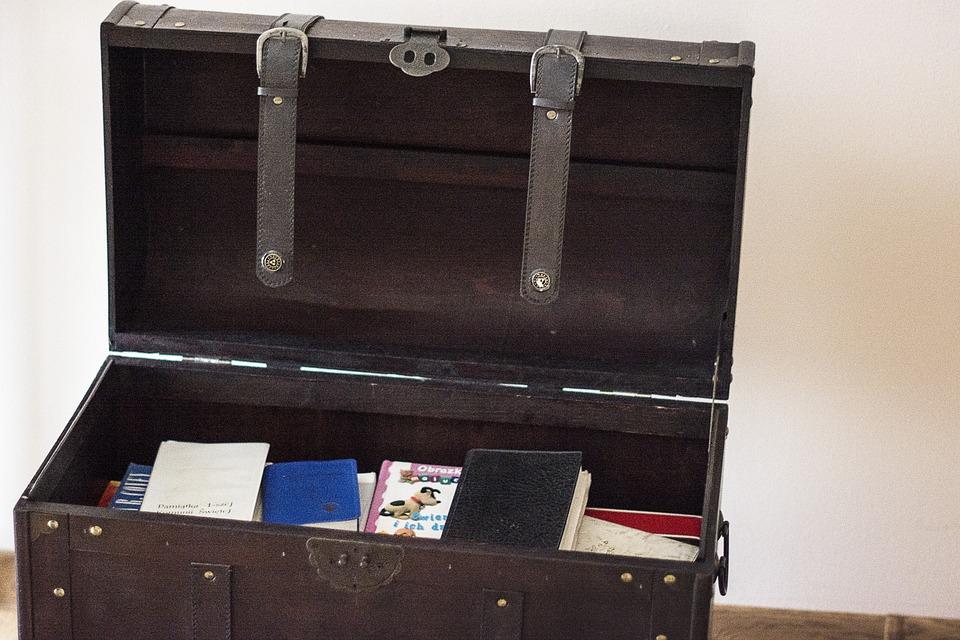Transmission, Box, Wooden, Treasure, Pirate, Book