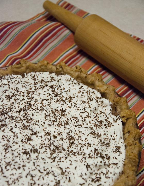 Pie, French Silk, Rolling Pin, Dessert, Sweet, Treat