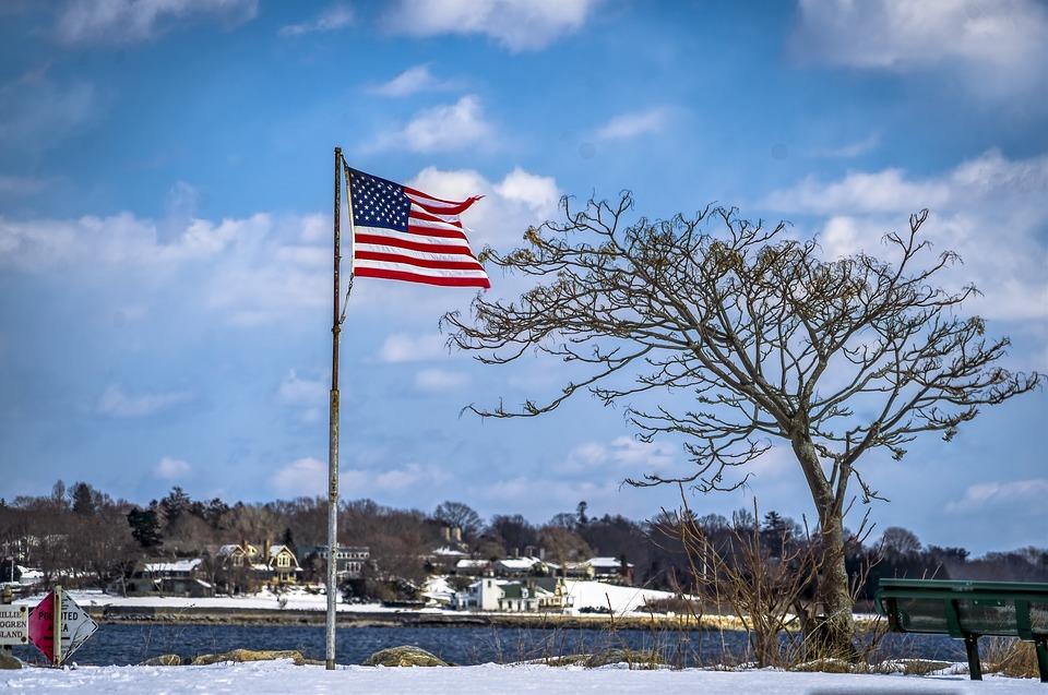 Flag, Tree, Scenic, Landscape, Sky, Building, Outdoor