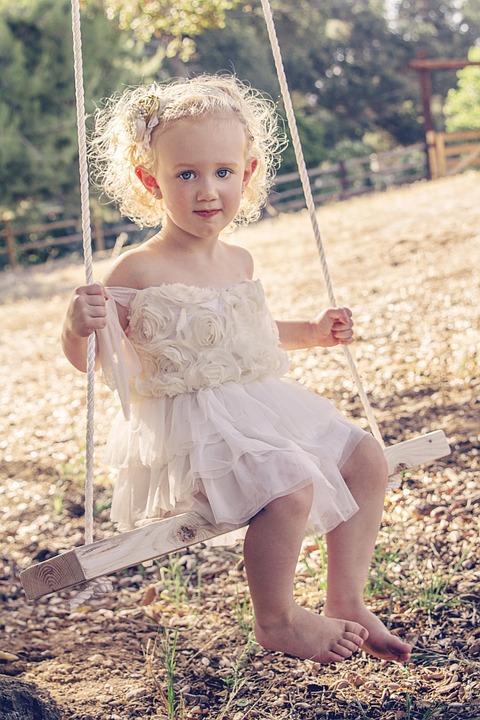 Girl, Tree Swing, Swing, Tree, Nature, Summer, Fun