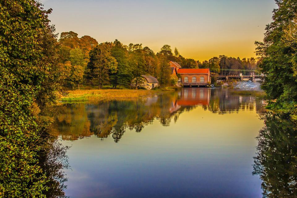 Reflection, River, Nature, Tree, Landscape