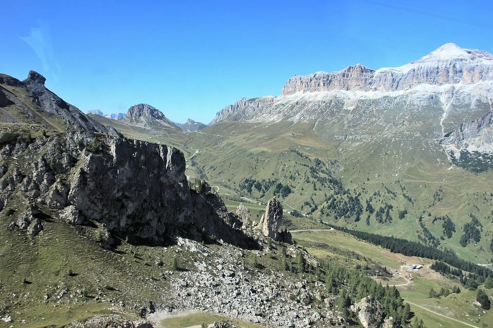 Mountain, Nature, Landscape, Sky, Travel, Tree, Grass