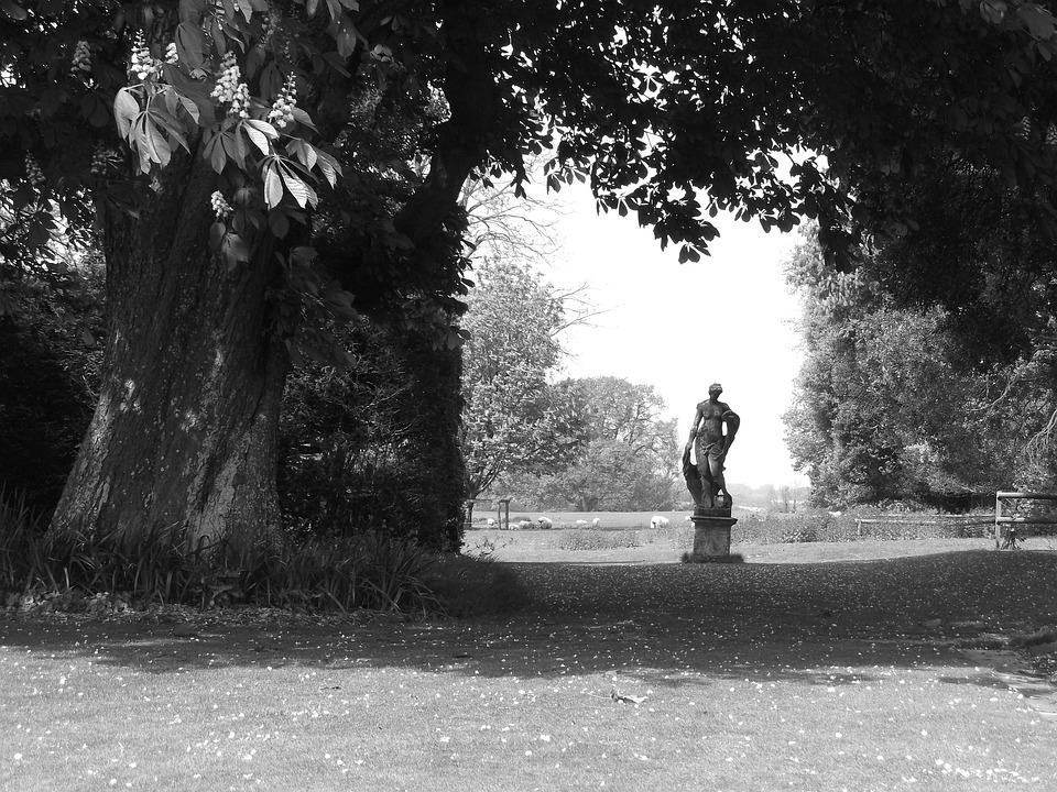Statue, Rural, Tree, Field, Spirituality, Sculpture