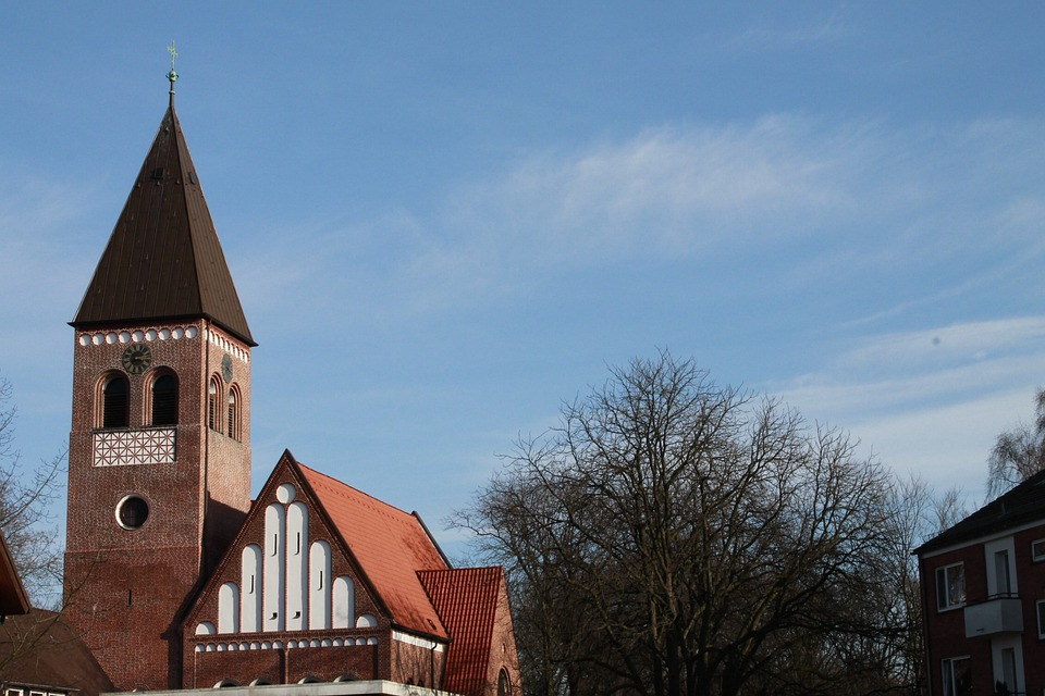 Church, Steeple, Building, Sky, Tree