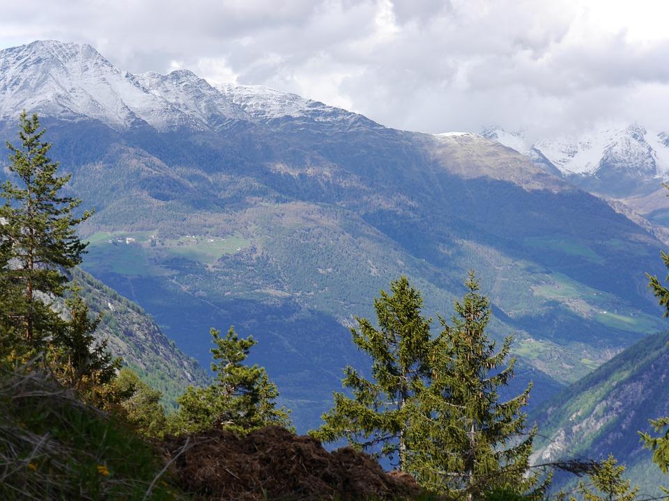 Mountains, Clouds, Sky, Tree Südtirol