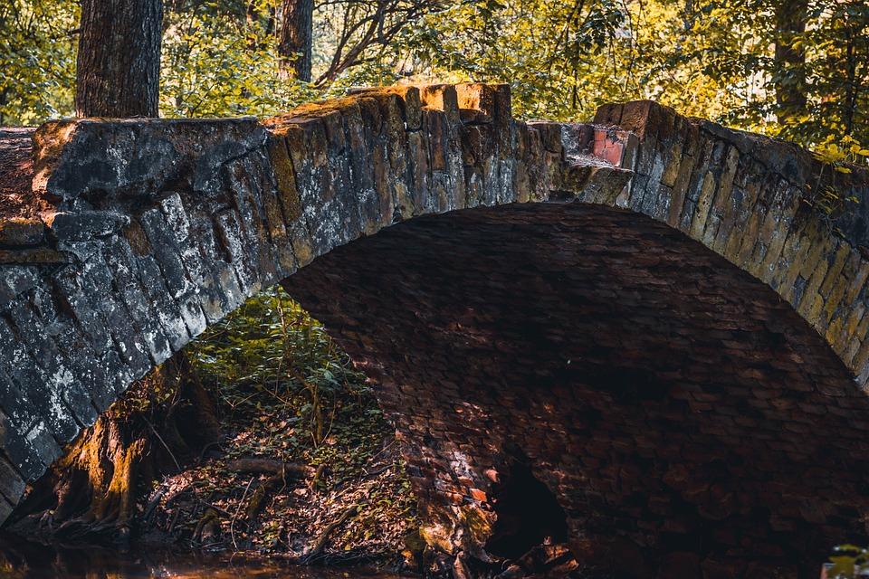 Bridge, Bridges, River, Tree, Trees, Background, Autumn
