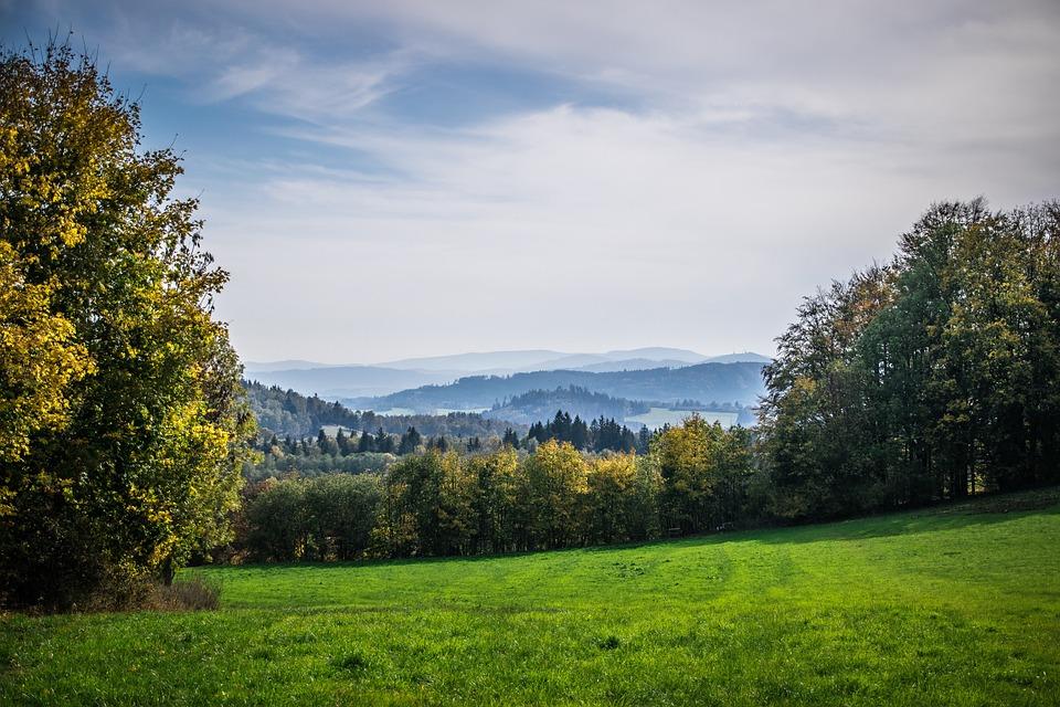Landscape, Sky, Autumn, Nature, Clouds, Blue, Trees