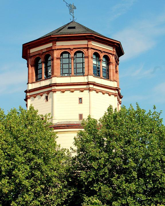Castle Tower, Trees, Düsseldorf, Schlossgarten