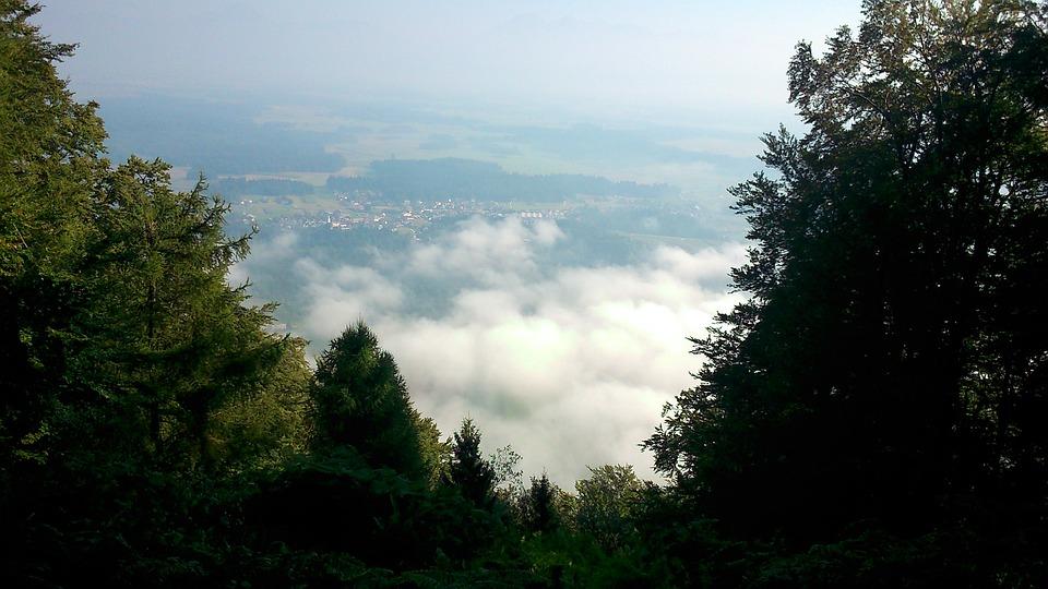 Hom, Sora, Medvode, Trees, Sky, Village, Hill