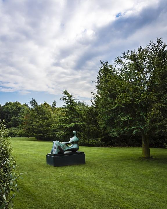 Landscape, Sculpture, Tree's, Nature, Park