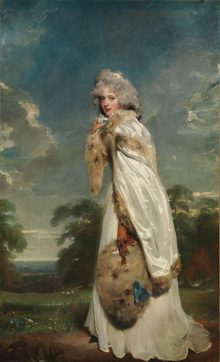 Thomas Lawrence, Woman, Female, Nature, Outside, Trees