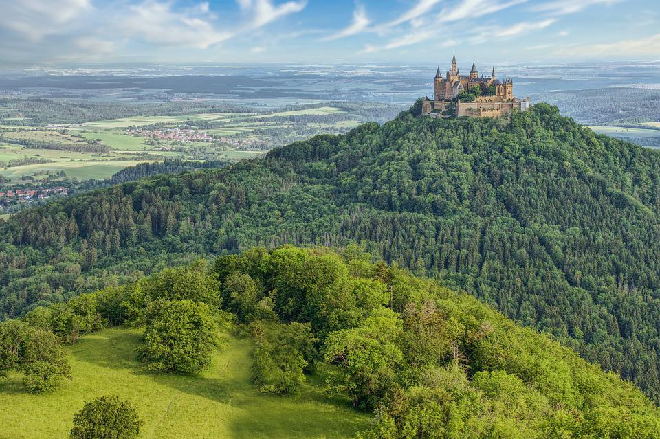 Hohenzollern, Castle, Hill, Panorama, Trees, Forest