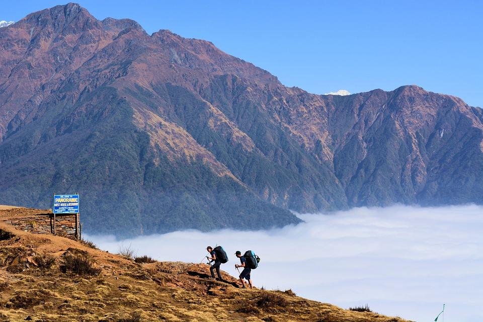 Trek, Mountain, Nepal, Trekkers, Trekking, Hiking