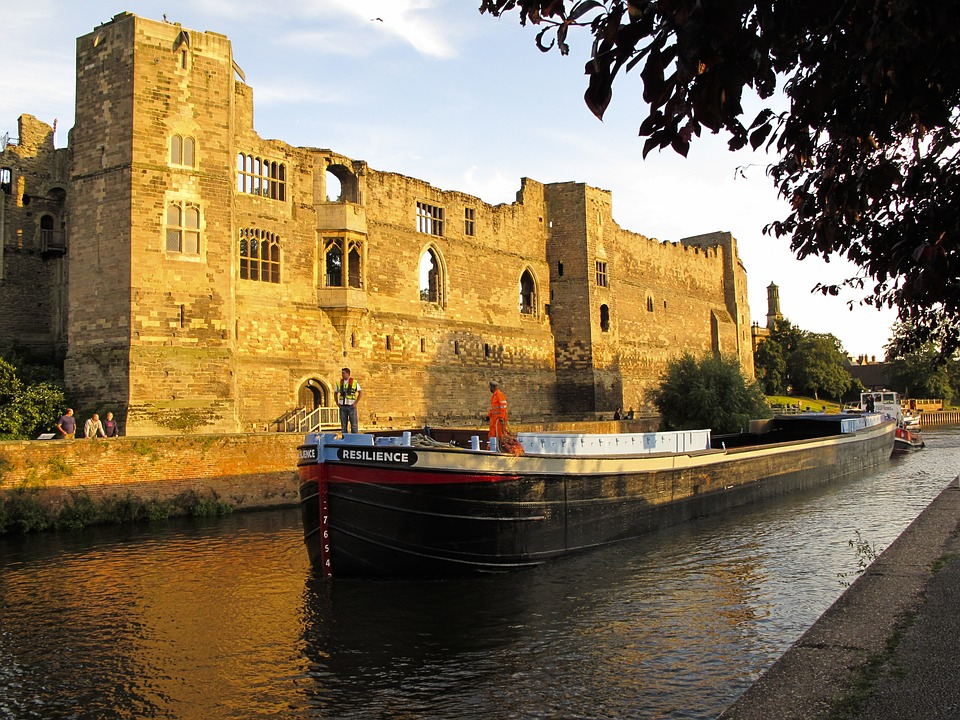 Barge, Ship, Boat, Castle, Newark, Trent, Waterway