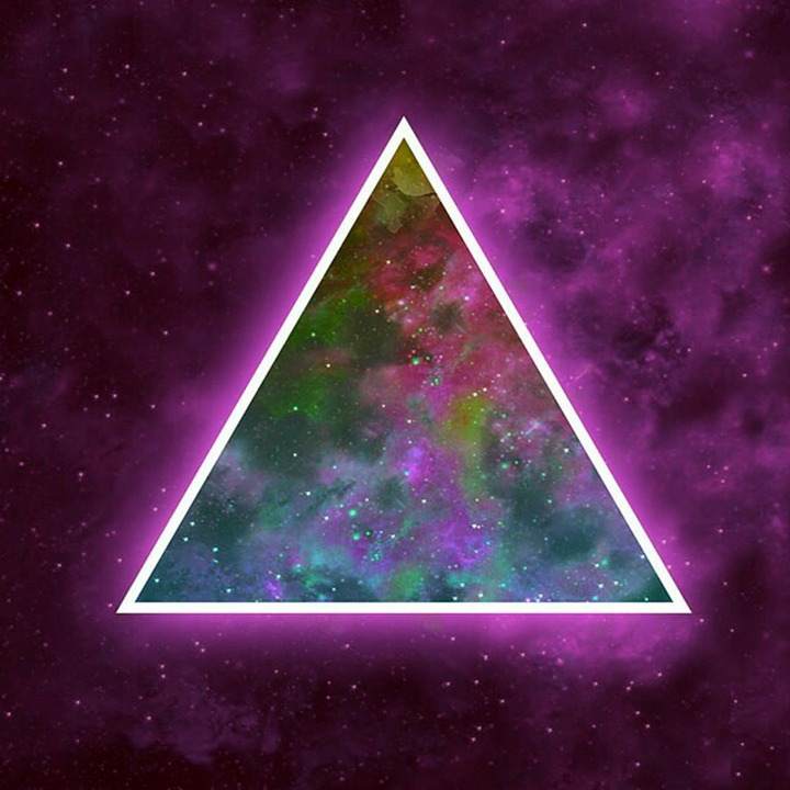 Space, Triangle, Bright, Red, Abstract