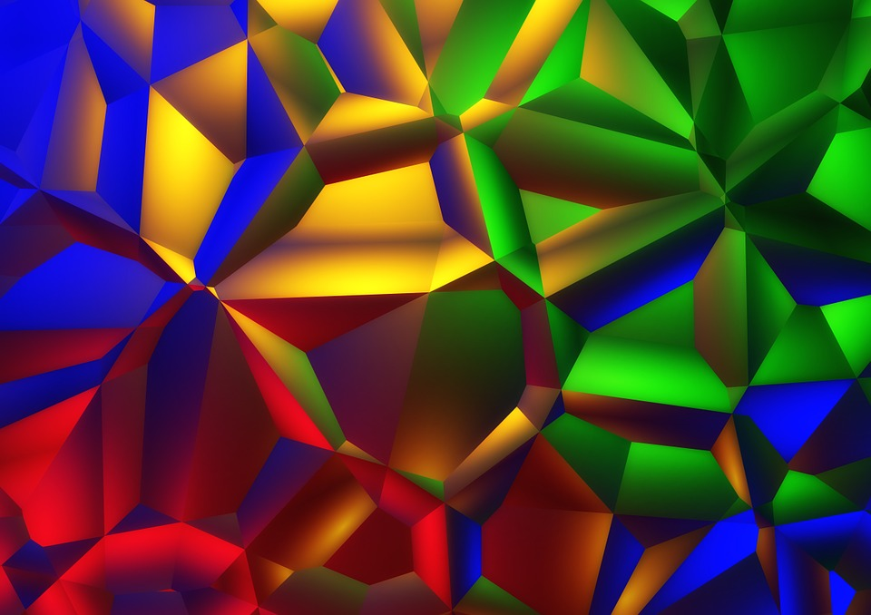 Color, Share, Many, Colorful, Triangles, Green