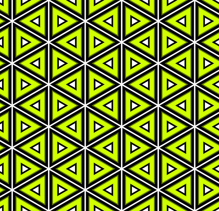 Green, Pattern, Triangles, Design, Seamless, Lines