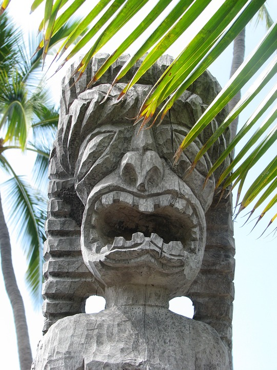 Idol, Scary, Hawaii, Wooden, Culture, Sculpture, Tribal