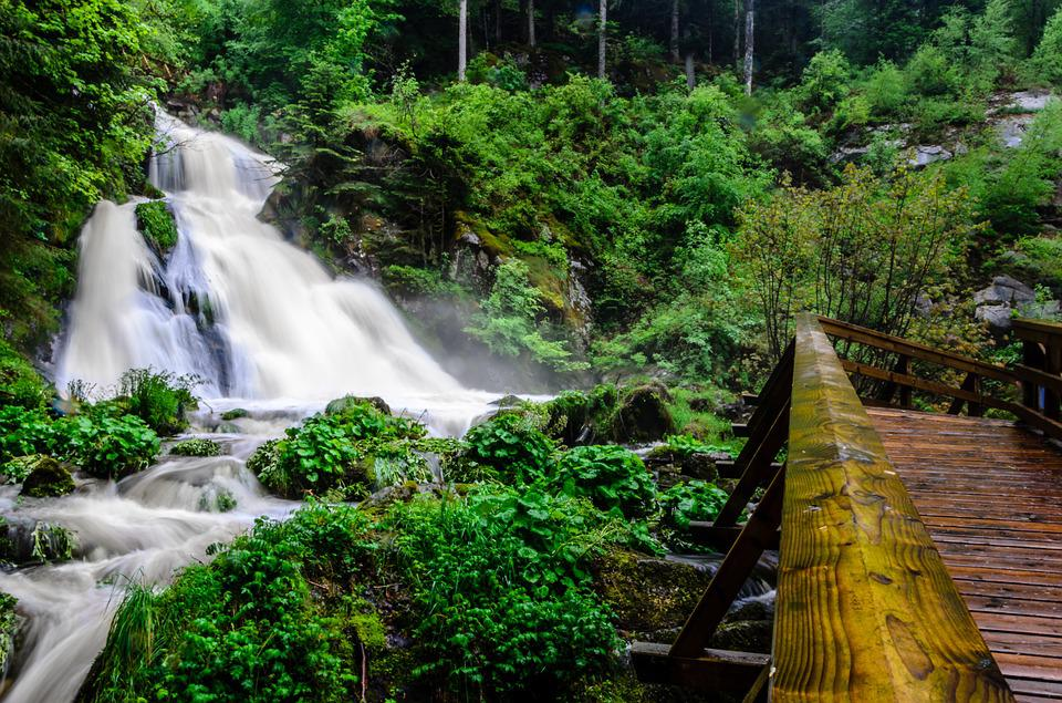 Triberg, Black Forest, Germany, Waterfall, Water