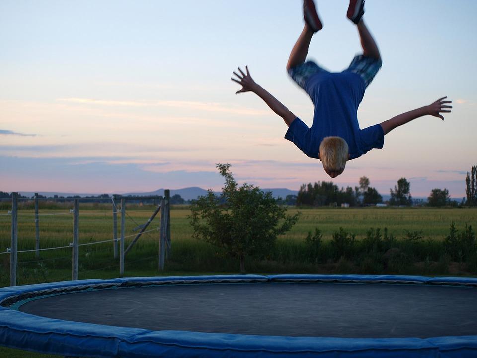 Trampoline, Trick, Jumping, Boy, Salto, Bounce, Flip