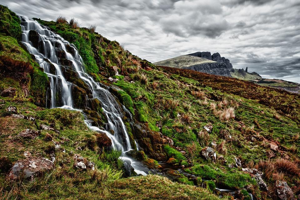 Waterfall, Trickle, Rock, Mountain, Bach, Murmur
