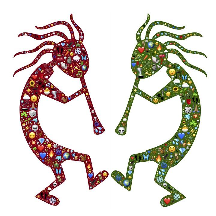 Kokopelli, Trickster, Symbol, Spirit, Fun, Emoji, Life
