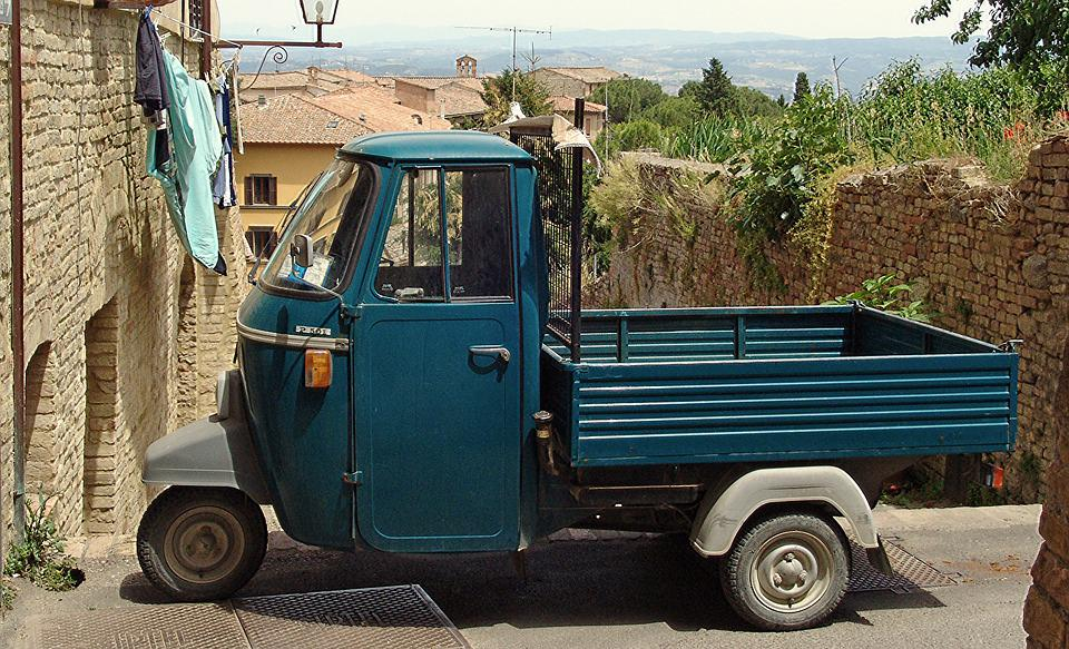 Italy, Auto, Classic, Tricycle, Platform Truck, Box Car