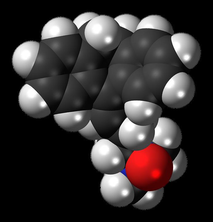 Amitriptylinoxide, Tricyclic, Antidepressant, Spacefill