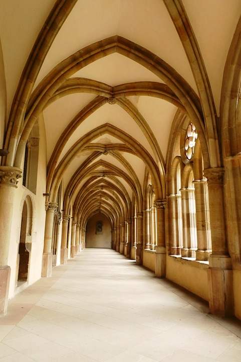 Bogengang, Architecture, Monastery, Trier, Historical