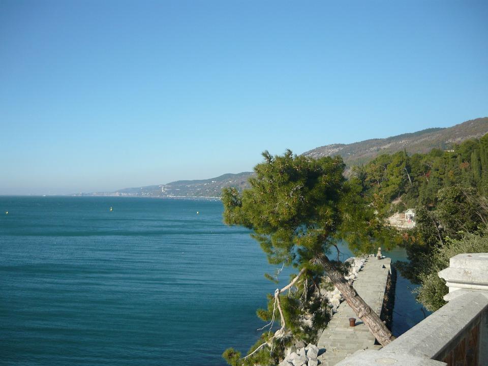 Trieste, Italy, Castle, Mountain, Lake