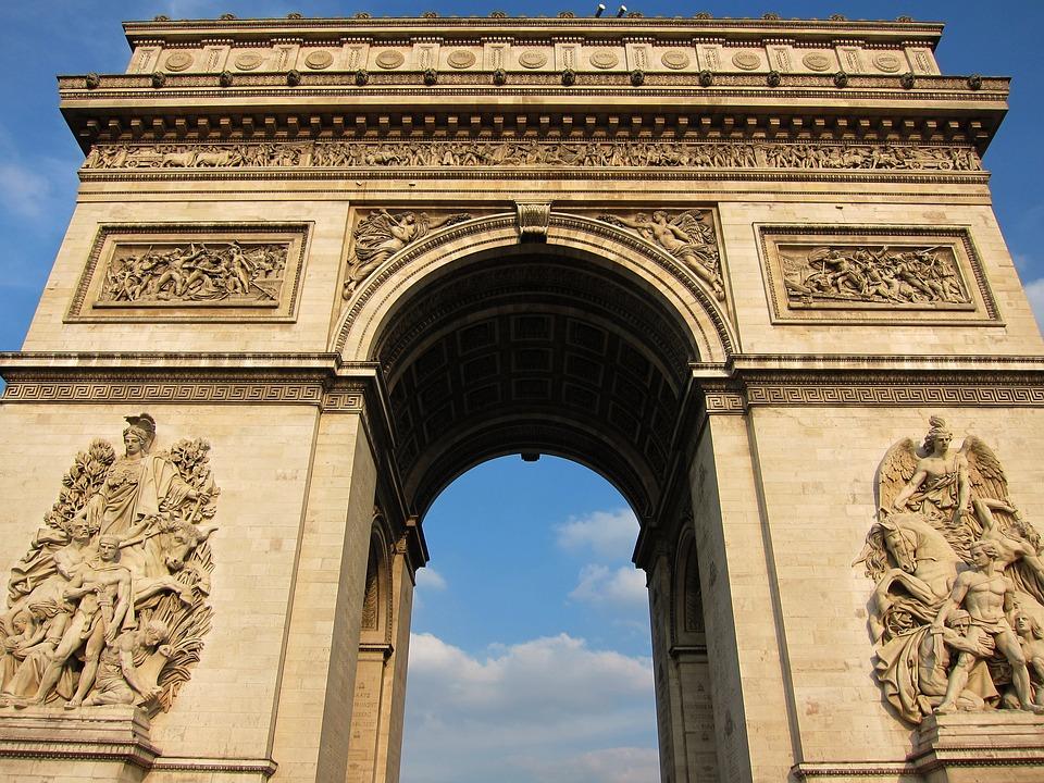 Arc De Triomphe, Paris, France, Arc, Triomphe, City
