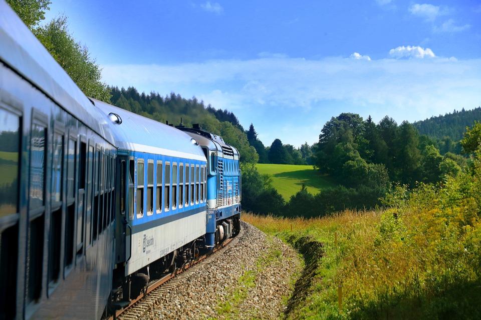Train, Track, Trip, Landscape, Green, Nature, Summer