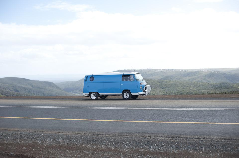 Campervan, Traveling, Vw, Road, Trip, Holiday, Driving
