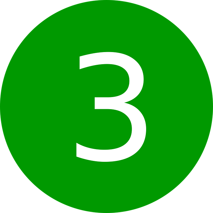 Three, Number, 3, Symbol, Count, 3rd, Third, Triple