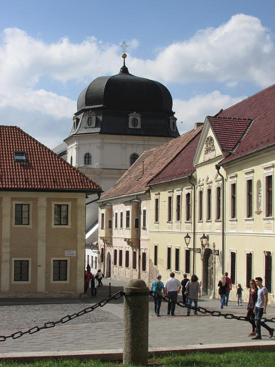 Trnava, Slovakia, Center, Street, Tourists, Historic