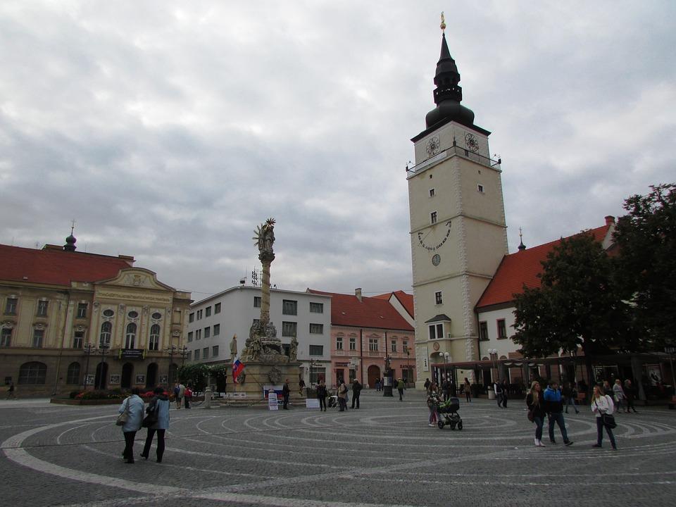 Trnava, Slovakia, Center, Buildings