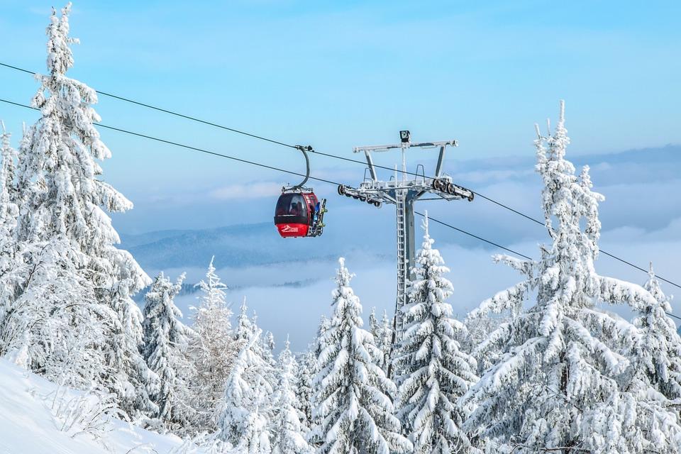Gondola, Ski Resort, Trolley, Winter In The Mountains