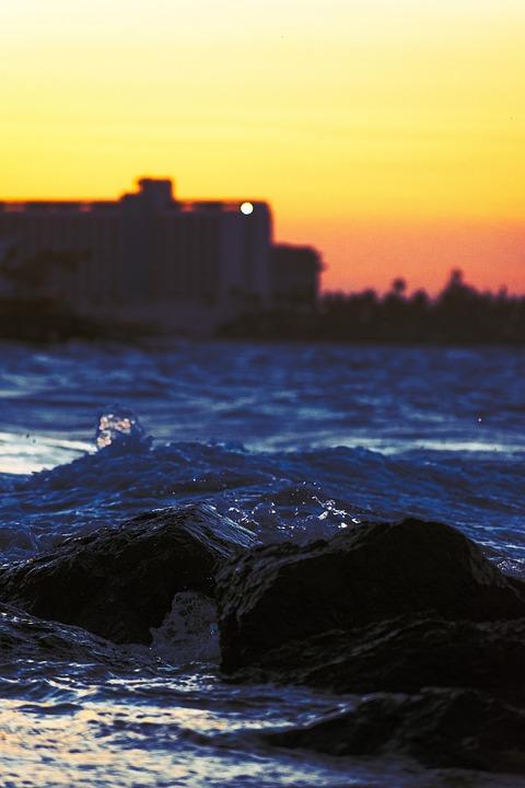 Beach, Coast, Sunset, Sea, Dusk, Ocean, Tropical