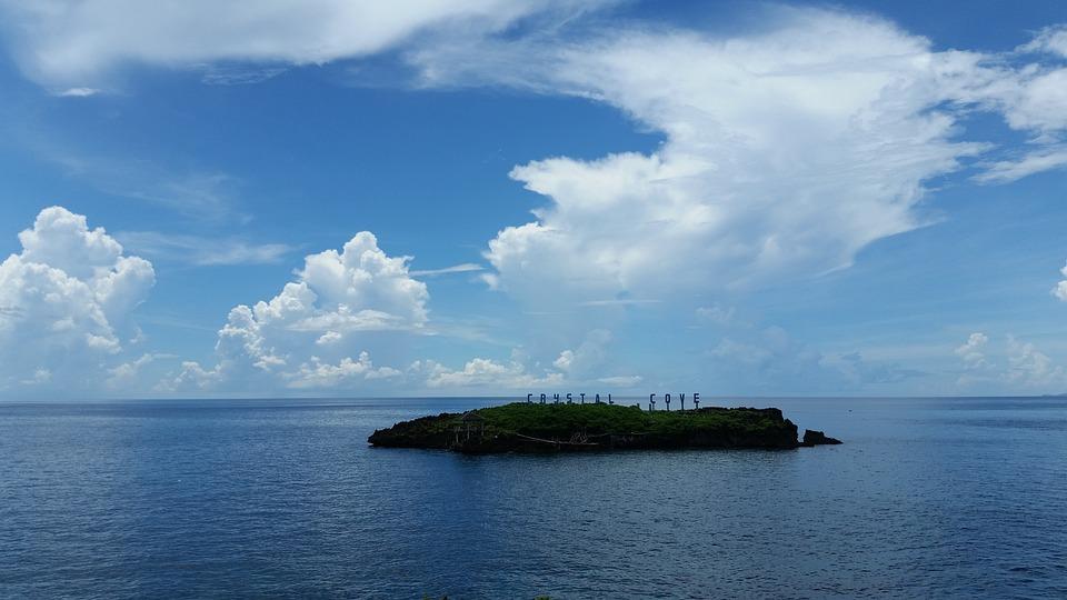 Tropical, Island, Ocean, Blue Island