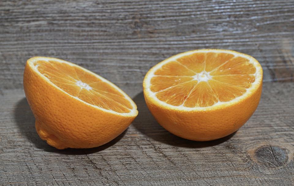 Fruit, Orange, Food, Citrus Fruit, Half, Tropical