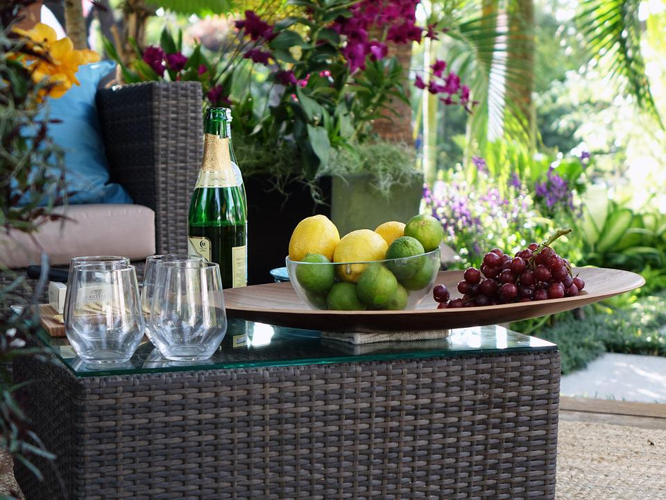 Branch, Tropical, Garden, Decoration, Furniture, Table