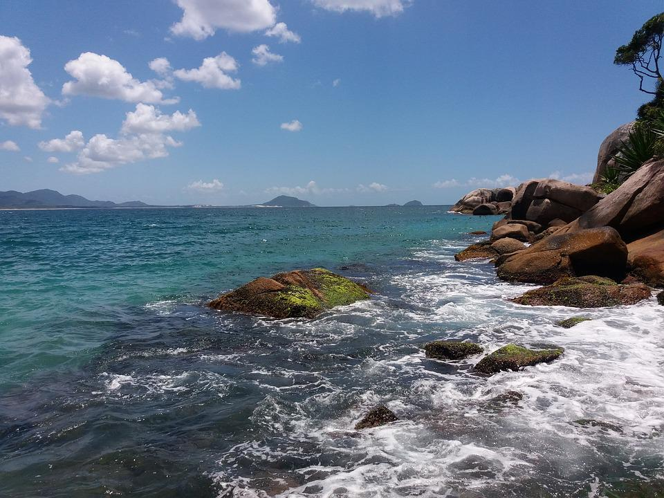 Florianopolis, Ocean, Summer, Tropical, Landmark, Bay