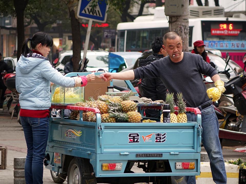 Fruit, Pineapple, Fresh, Tropical, Ripe, Woman, Man