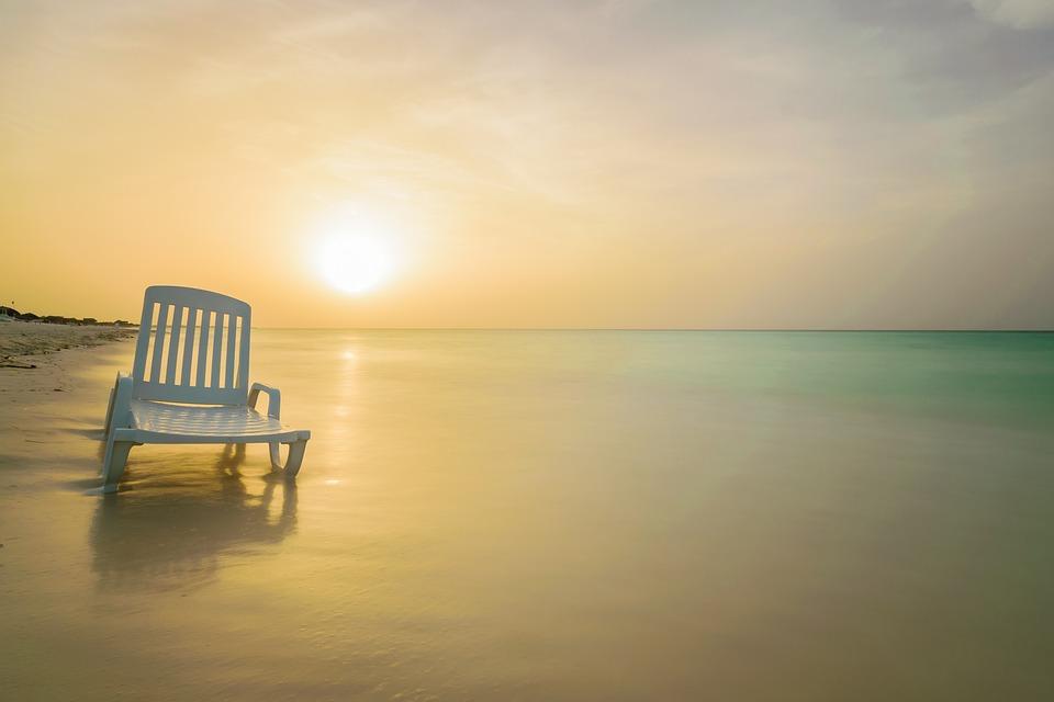 Sunset, Sun, Beach, Waters, Dawn, Sea, Ease, Tropical