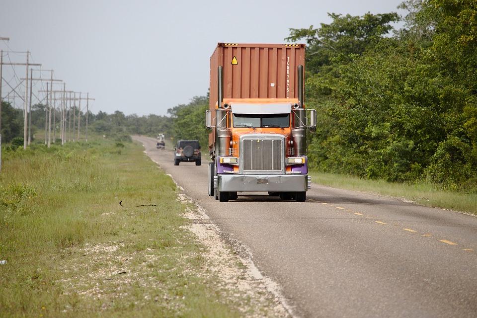 Truck, Semi, Tractor, Container, Transportation